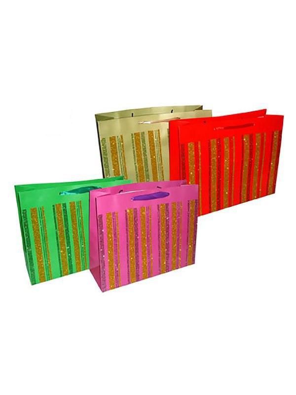 Подарочный пакет Люкс 26 х 32 х 11 см - в ассортименте