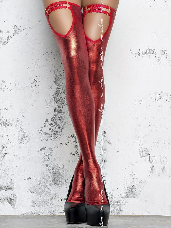 Глянцевые чулки госпожи (Me Seduce) – красный