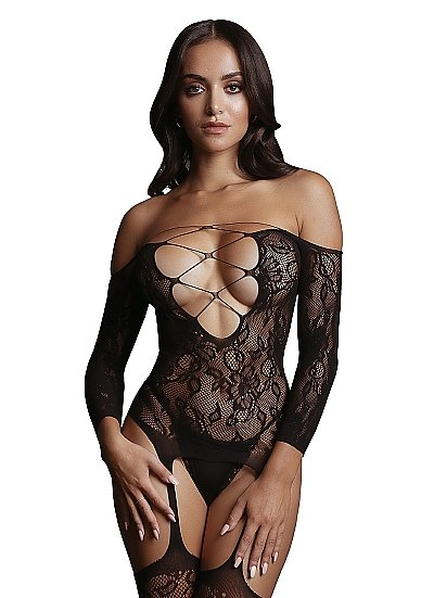 Кетсьюит боди-комбинезон Criss Cross Neck Bodystocking