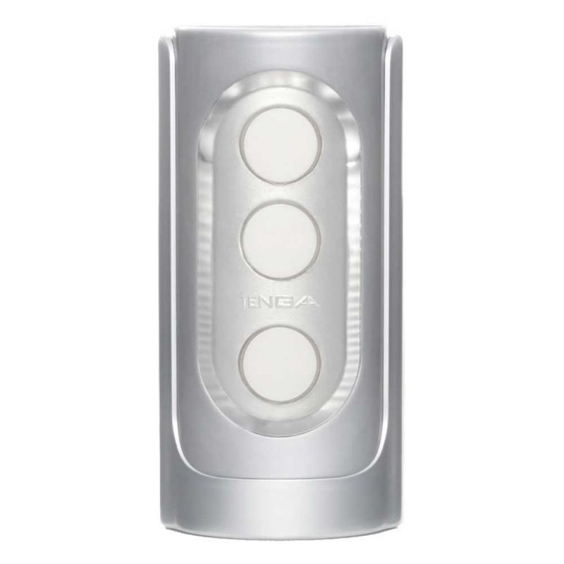 Мастурбатор премиум класса Tenga Flip Hole Silver – серебристый