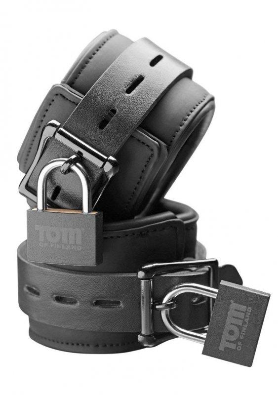 Фиксаторы для лодыжек Tom of Finland Neoprene Ankle Cuffs - чёрный