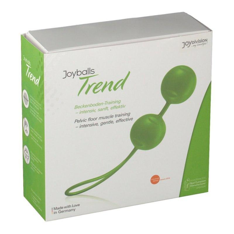 Вагинальные шарики Joyballs Trend со смещенным центром тяжести – зеленый