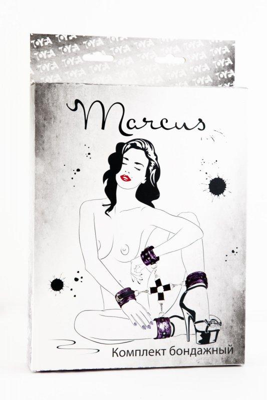 Кружевной бондажный комплект TOYFA Marcus – серебристый