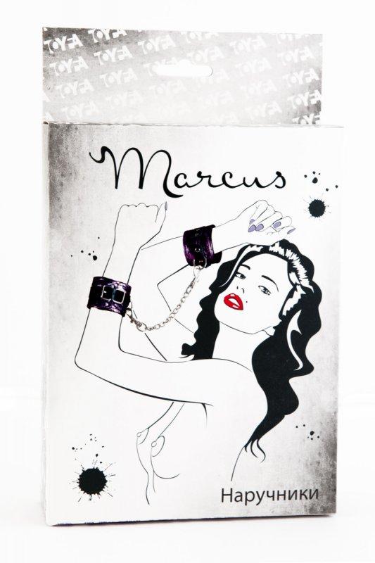 Кружевные наручники TOYFA Marcus – пурпурный