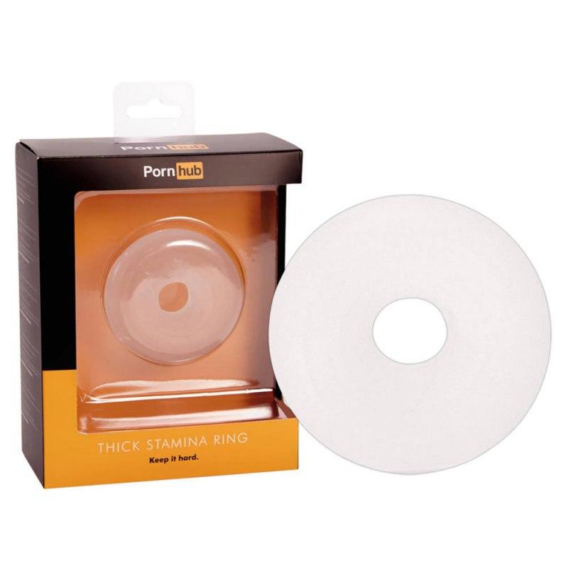 Эрекционное кольцо Pornhub Thick Stamina Ring - прозрачный