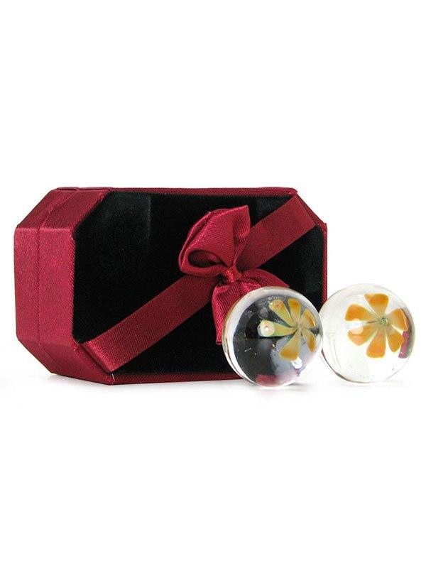 Здесь можно купить   Вагинальные шарики Ben Wa Balls Yellow Blossom стеклянные Вагинальные шарики