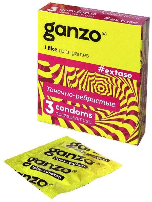 Презервативы Ganzo Extase анатомические  3 шт