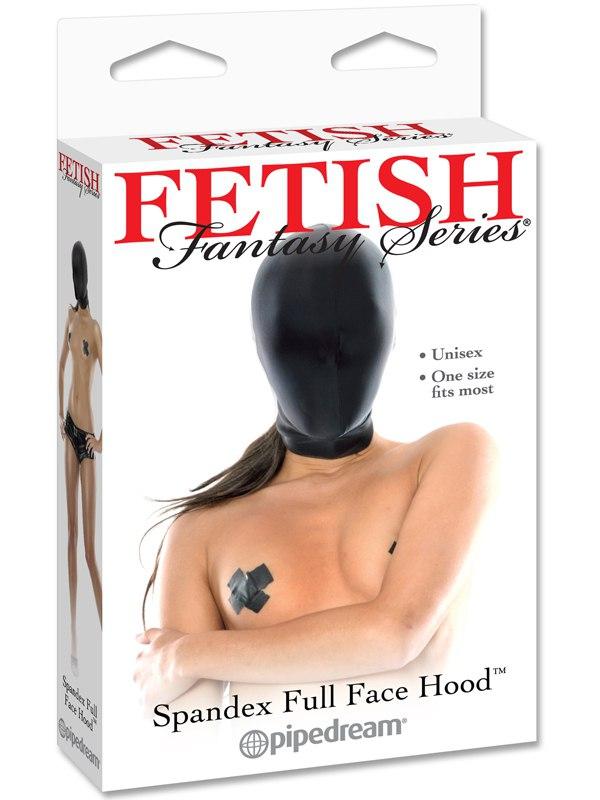 Закрытая шлем-маска на лицо Spandex Full Face Hood - черный