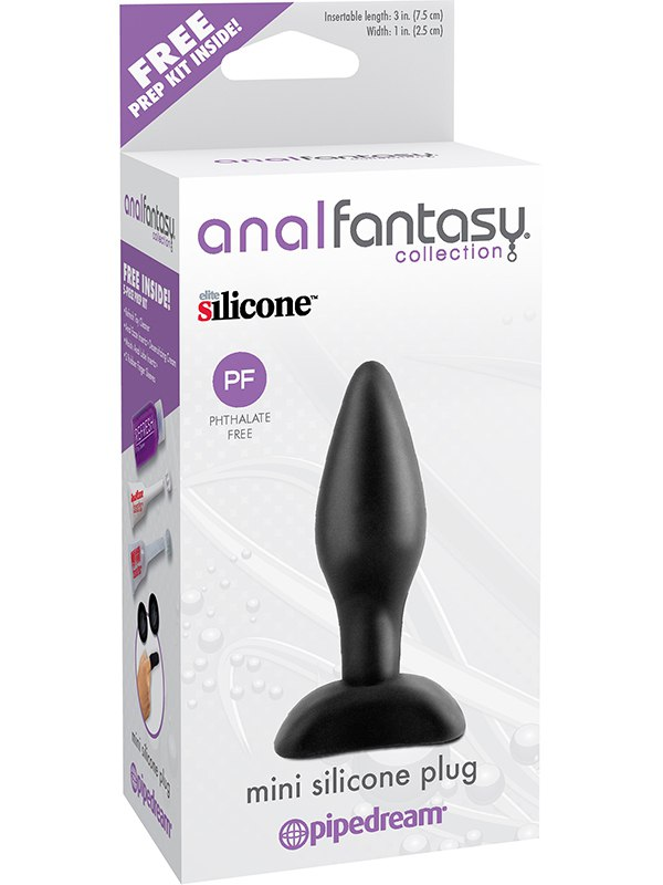 Анальная пробка Mini Silicone Plug - 3,5 pipedream anal fantasy collection small silicone plug анальная пробка небольшого размера