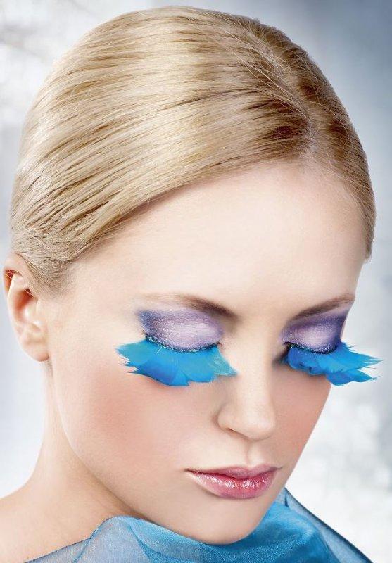 Ресницы перьевые Baci Клест – голубой