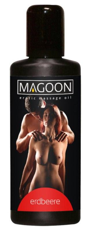 Масло массажное Magoon Strawberry с ароматом клубники – 50 мл