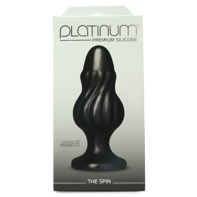 Doc Johnson Анальная пробка Platinum Premium Silicone The Spin  черный