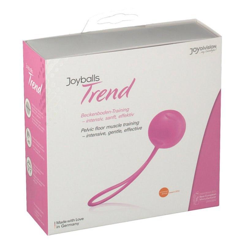 Вагинальный шарик Joyballs Trend со смещенным центром тяжести – светло-розовый вагинальный шарик joyballs trend со смещенным центром тяжести – фиолетовый