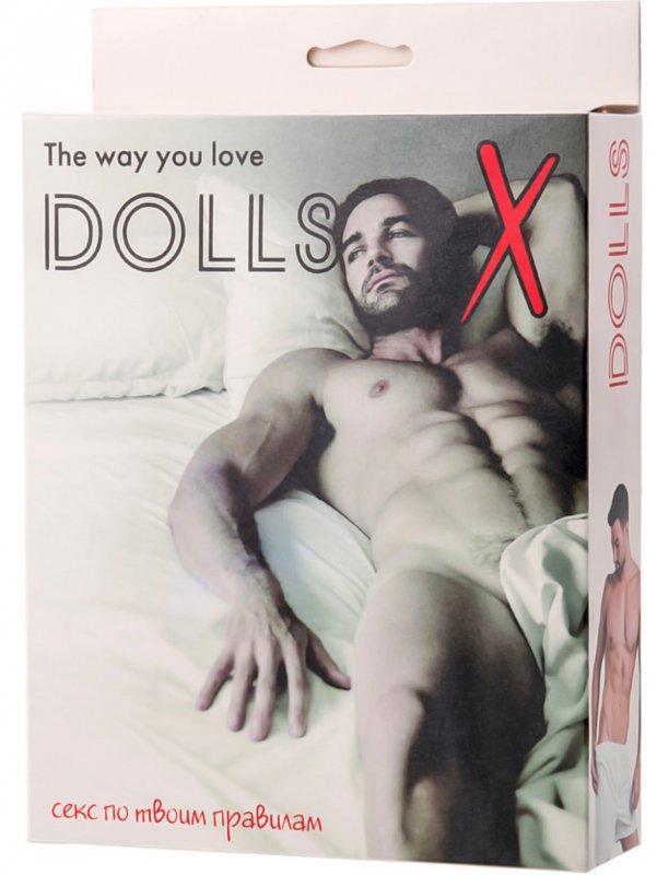 Надувная секс-кукла с фаллоимитатором TOYFA Dolls-X Jacob - телесный