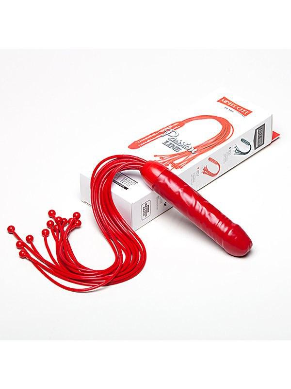 Мини-плеть Sitabella Ракета с шариками и рукоятью в форме фаллоса  красный (СК-Визит, Россия)