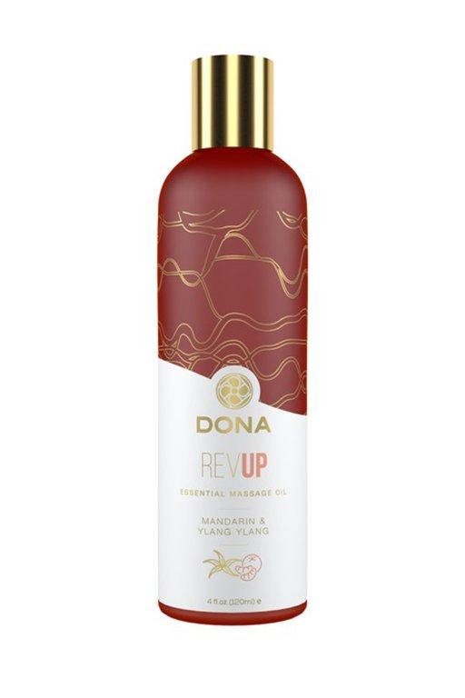 Эфирное массажное масло Dona Rev Up с ароматом мандарина и иланг-иланга - 120 мл