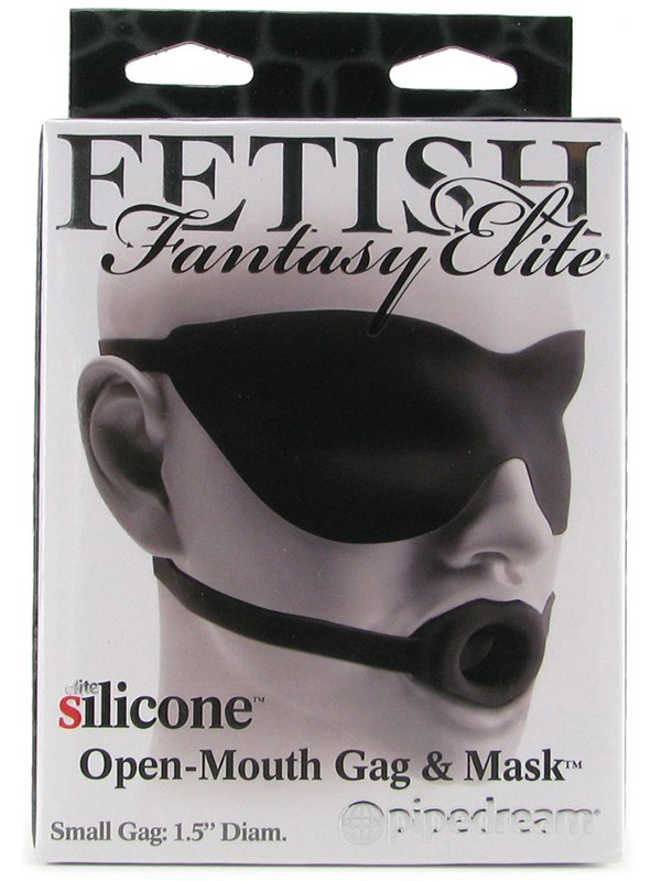 """Кляп-расширитель и маска на глаза Fetish Fantasy Elite 1,5"""" – черный"""