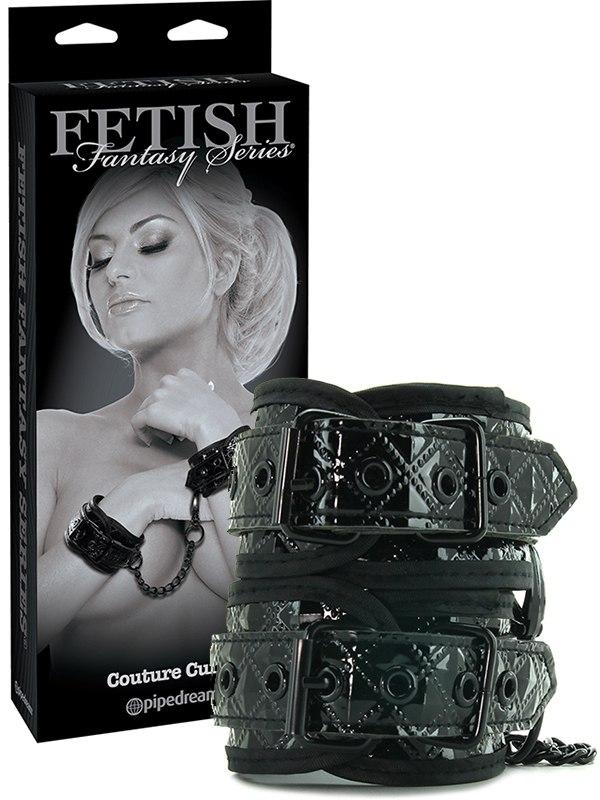 Наручники Couture Cuffs – черные pipedream furry cuffs наручники с мехом
