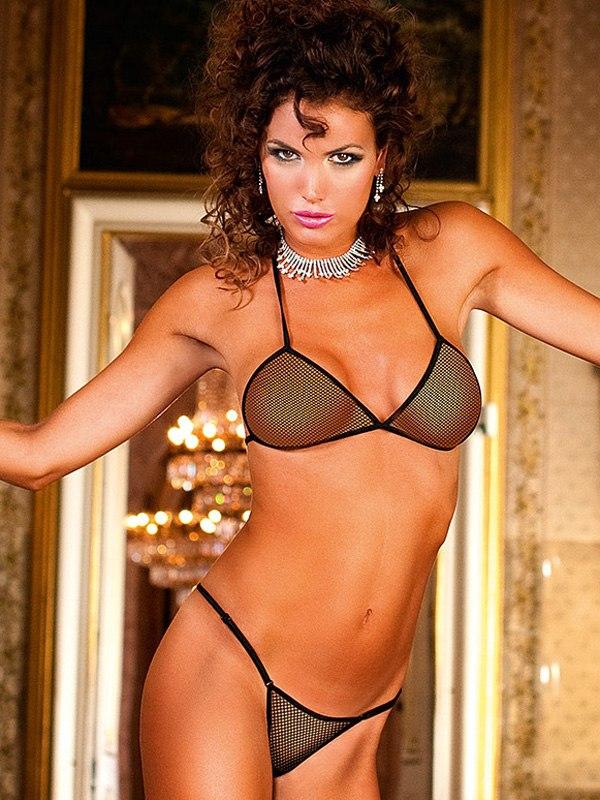 Соблазнительный комплект-бикини из сеточки Spanish Dreams от Он и Она