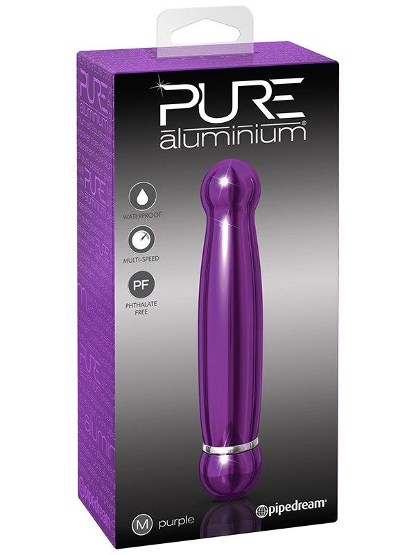 Вибромассажер Pure Aluminium Medium Purple – фиолетовый