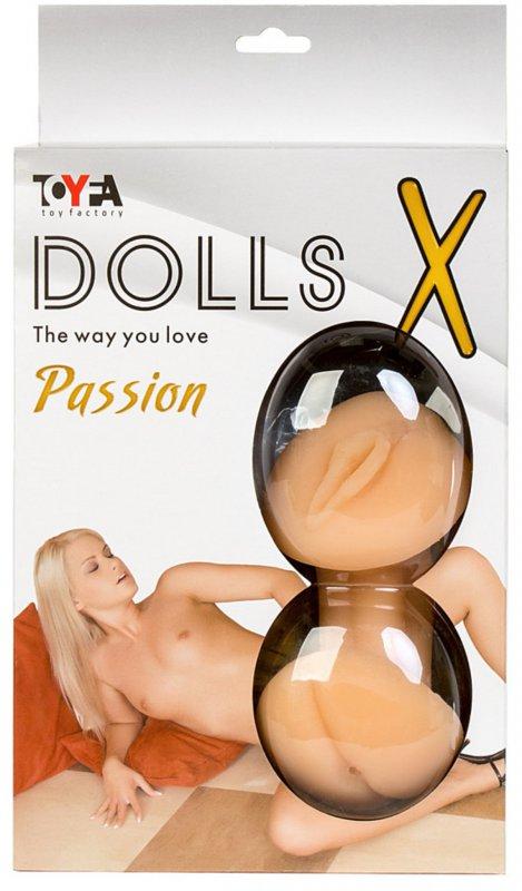 Надувная секс-кукла TOYFA Dolls-X Olivia с реалистичной вставкой - телесный фото