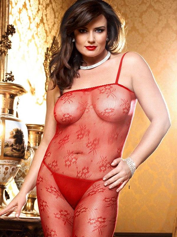Кружевной красный комбинезон Spanish Dreams - Queen Size от Он и Она