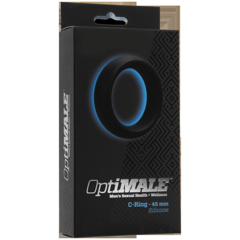 Кольцо эрекционное OptiMALE C-Ring Thick 45mm – черный