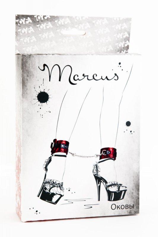 Кружевные поножи TOYFA Marcus – красный