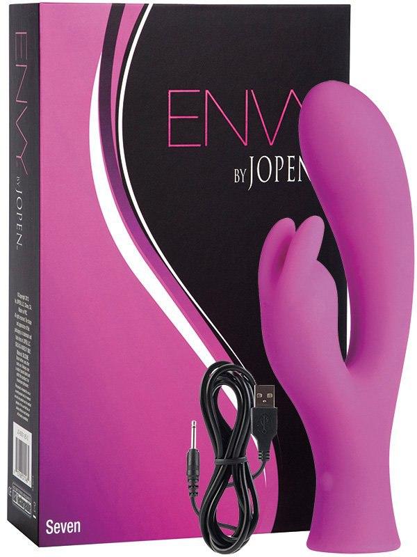 Вибромассажер Envy Seven со стимуляцией клитора  розовый