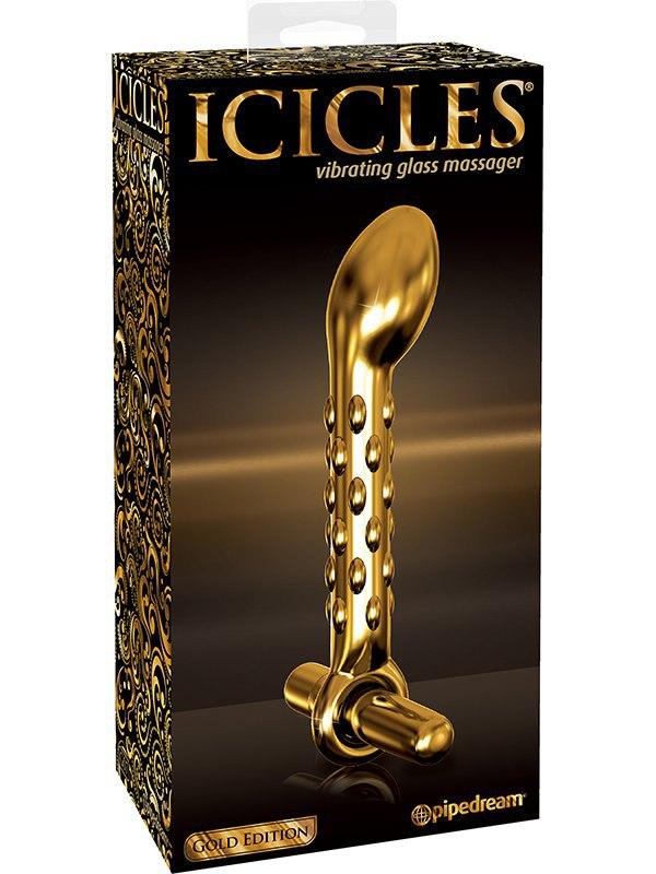 Стимулятор Icicles Gold Edition G07 с вибрацией  золотой (Pipedream, США)