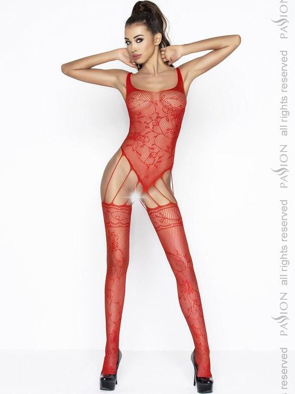 Чулок на тело Нимфа (Passion) – красный