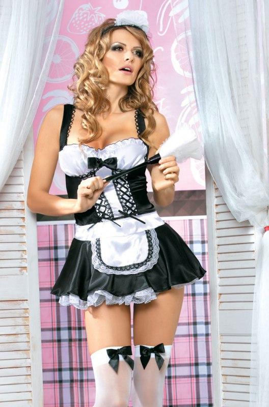 Эротический костюм горничной Caprice French Maid - L/XL