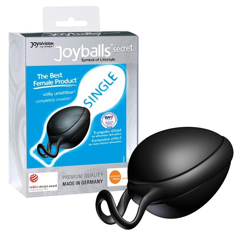 Вагинальный шарик Joyballs Secret со смещенным центром тяжести – черный цена и фото