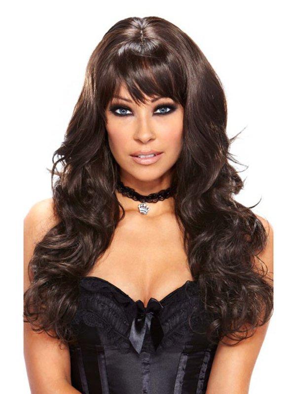 Объемный парик с длинными каштановыми волосами Luscious Chocolate