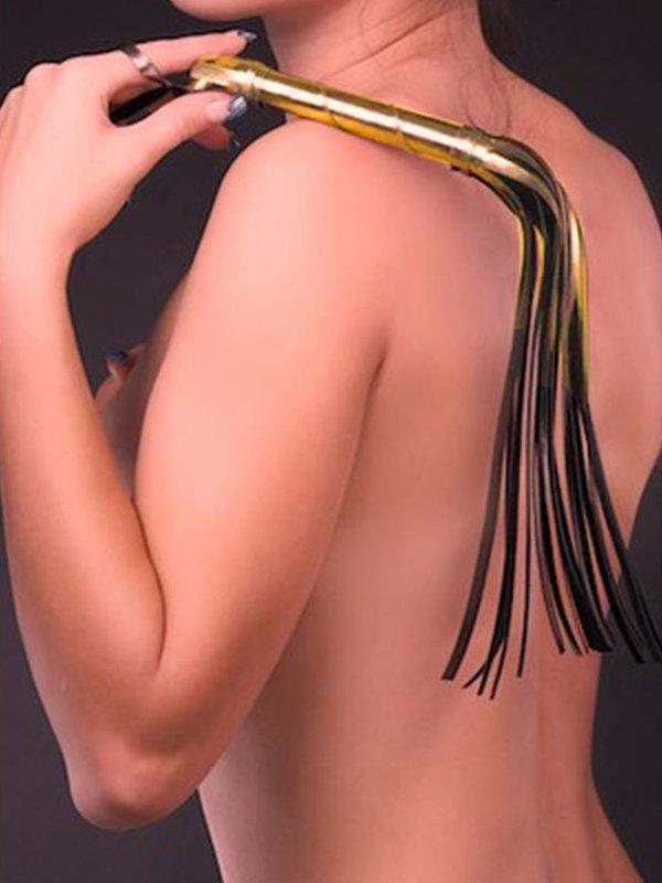 Флоггер с жесткой рукояткой Sitabella – золотой