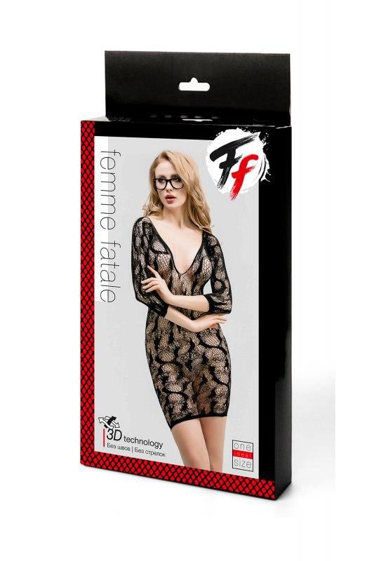 Ажурное эротическое платье с рукавами 3/4 Femme Fatale
