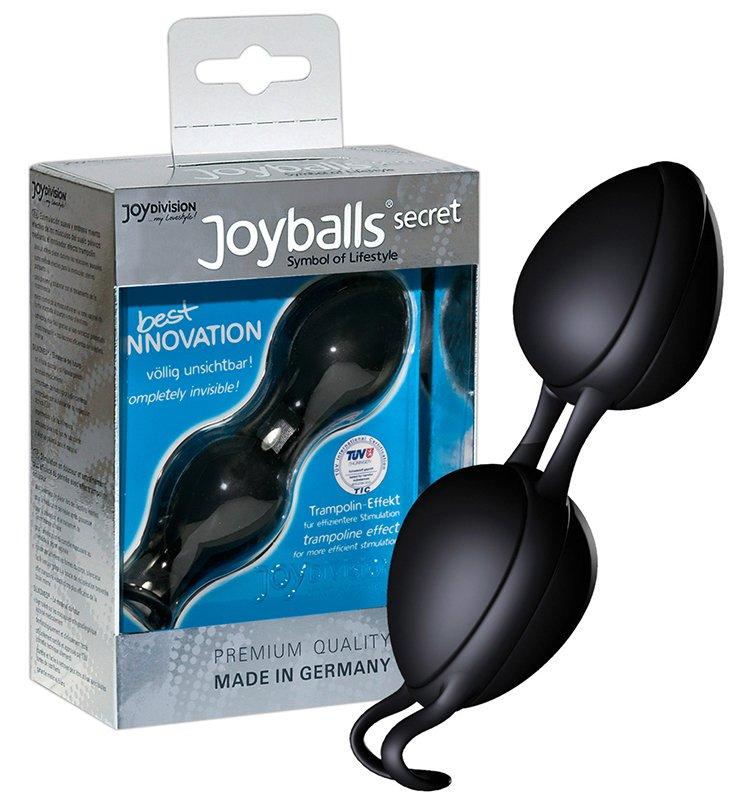 Вагинальные шарики Joyballs Secret со смещенным центром тяжести – черный