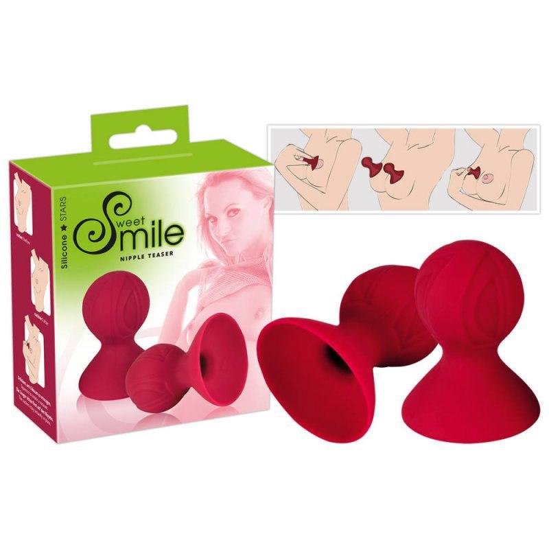 Помпы для сосков Smile Nipple Teaser - красный