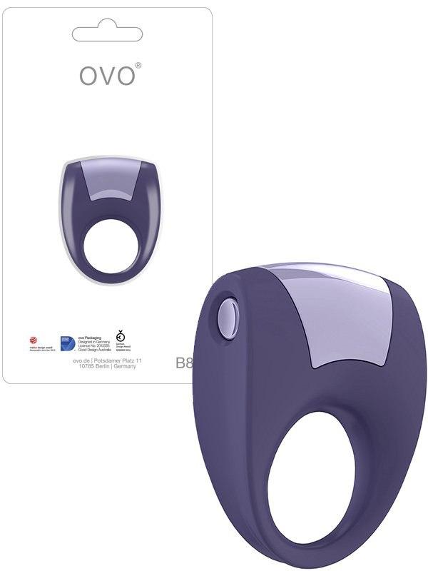 Эрекционное кольцо Ovo B8 с вибрацией  фиолетовый