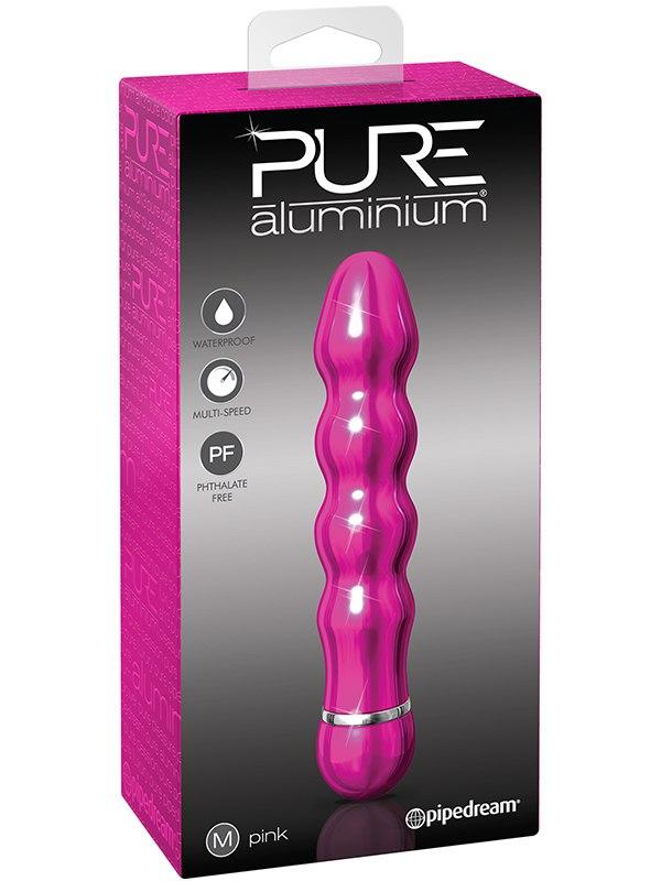 Вибромассажер Pure Aluminium Medium Pink  розовый (Pipedream, США)