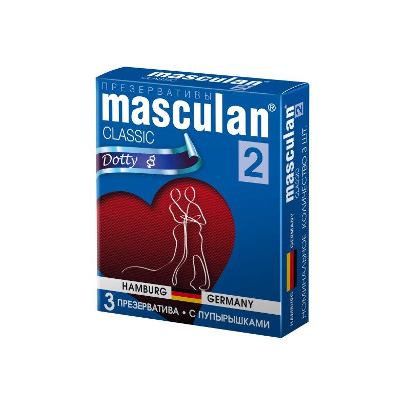 Презервативы Masculan 2 Classic с пупырышками 3 шт