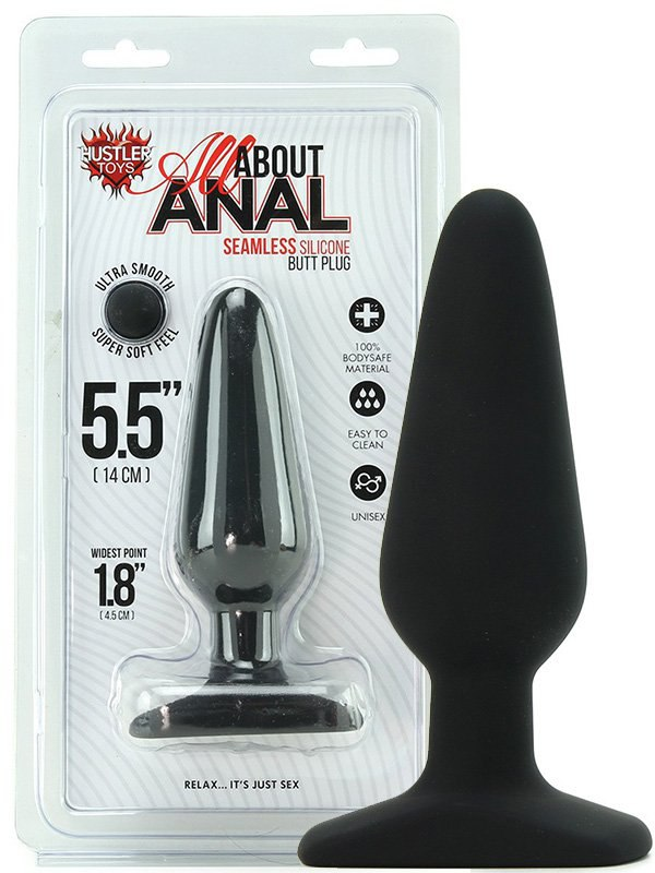Анальный плаг All About Anal - Butt Plug 5,5'' – черный