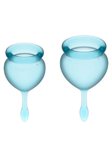 Набор менструальных чаш Satisfyer Feel good Menstrual Cup (light blue)