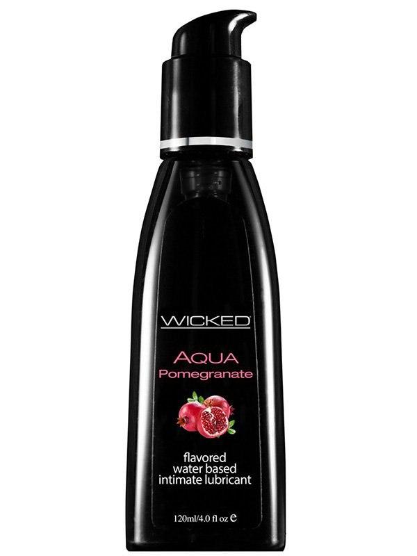 Лубрикант Wicked Aqua Pomegranate со вкусом граната – 120 мл