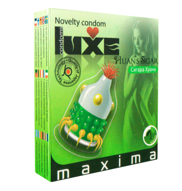 Презерватив Luxe «Сигара Хуана» со стимулирующими усиками и шариками - 1 шт