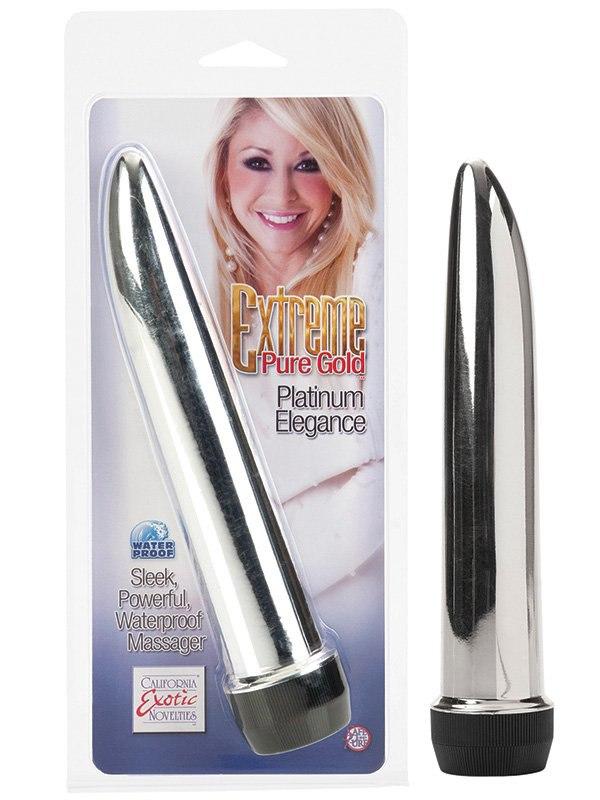 Вибромассажер Extreme Pure Gold Platinum Elegance – серебристый