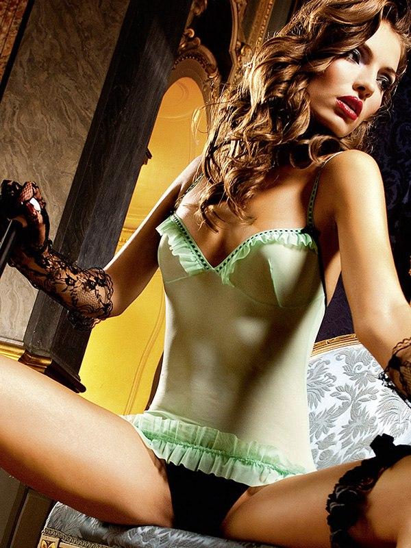 Маленькое платье с рюшами Criminal Minds – зеленый/черный