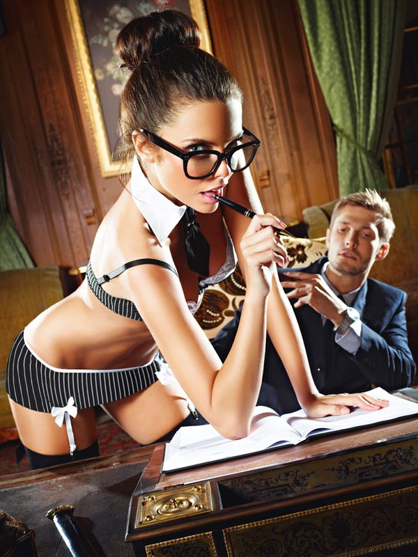 Эротический костюм Сексуальная Секретарша - Queen Size