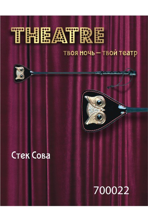 Пластиковый стек 24 см с украшением «Сова» TOYFA Theatre – черный