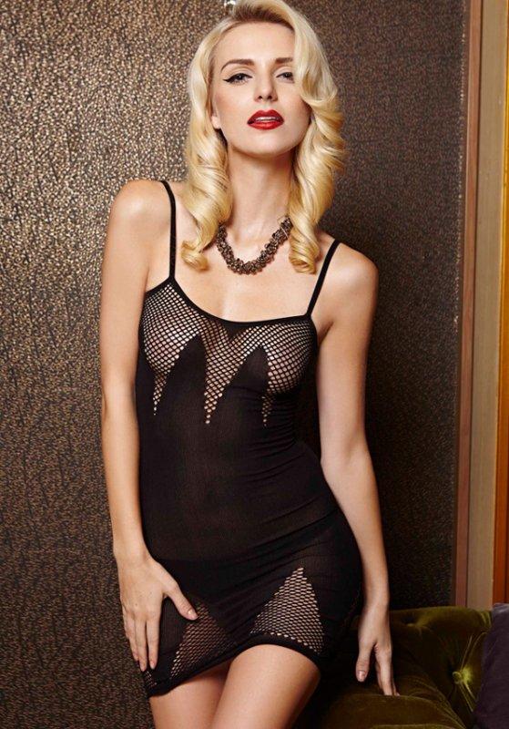 Платье с пикантными сетчатыми вставками (Temptlife) – черный